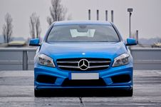 Free Blue Mercedes Benz Car Parked Stock Photo - 109923350