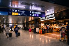 Free People Inside Airport Royalty Free Stock Image - 109923816