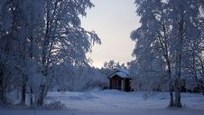 Free House With Snowfield Stock Image - 109923921