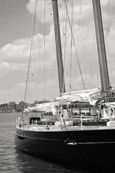 Free Grayscale Photo Of Ship Near High-rise Mountains Stock Photos - 109924073