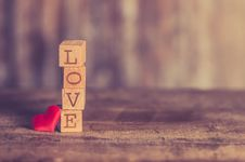 Free Stack Of Love Wooden Blocks Royalty Free Stock Image - 109924076
