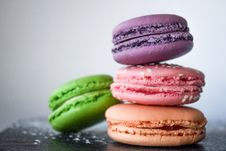 Free Four Assorted-color Of Macaroons Royalty Free Stock Image - 109924186