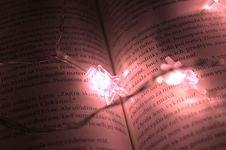 Free Star Shaped Lights On A Book Royalty Free Stock Images - 109924439