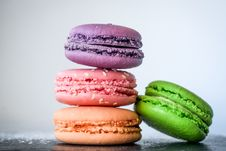 Free Four Macaroons Royalty Free Stock Photography - 109924467