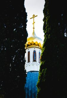 Free Photo Of The Church Between Two Plants Stock Photography - 109924882