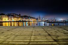 Free Panoramic Photo Of City Buildings During Night Time Royalty Free Stock Image - 109925236