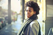 Free Photography Of Woman Wearing Grey Coat And Scarf Stock Photos - 109925483