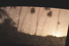 Free Window With Water Droplets Stock Image - 109925521