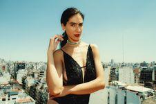 Free Woman Wearing Black Monokini Behind Highrise Building Royalty Free Stock Image - 109925666