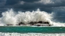 Free Green And White Tidal Waves Stock Photography - 109925782