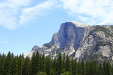 Free White Rocky Mountain And Green Trees Stock Photography - 109926642