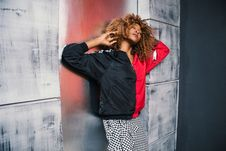 Free Woman In Red And Black Bomber Jacket Royalty Free Stock Photos - 109926688