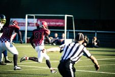 Free Group Men Playing Football Royalty Free Stock Images - 109927349