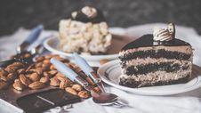 Free Chocolate Cake On White Ceramic Saucer Stock Image - 109927671