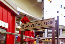 Free Las Vegas Strip Signage Stock Image - 109927731
