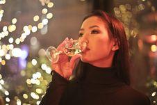 Free Women Drinking Wine Stock Image - 109927951