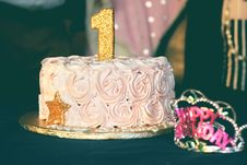 Free Close-up Photography Of Pink Birthday Cake Royalty Free Stock Photography - 109927967