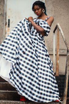 Free Photo Of A Woman Wearing Gingham Dress Stock Photo - 109928110