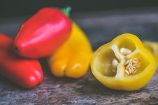 Free Photo Of Red And Yellow Peppers Stock Photo - 109928200