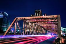 Free Bridge In Time-lapse Photo Stock Photos - 109928253