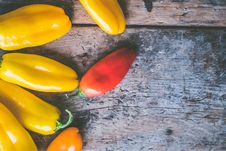 Free Red And Yellow Chilies Stock Images - 109928354