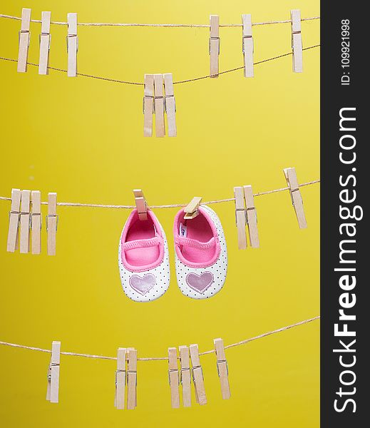 Baby&x27;s White-and-pink Polka-dot Shoes