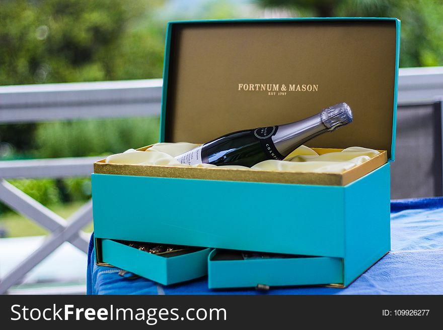 Fortnum And Mason Bottle On Blue Box