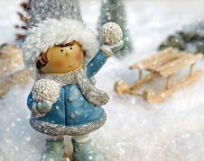 Free Winter, Doll, Snow, Figurine Royalty Free Stock Image - 109933186