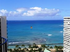 Free Waikiki Sailboat Royalty Free Stock Photo - 113535