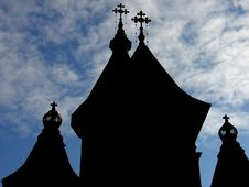 Free Church Silhouette Stock Photography - 113772