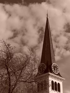 Free Steeple Of Old New England Church Stock Photos - 115663