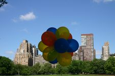 Free Balloons In Central Park Stock Images - 118864