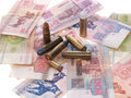 Free Belarus Money And Bullets Stock Photo - 1100060