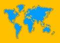 Free World Map Aqua Royalty Free Stock Photography - 1108447