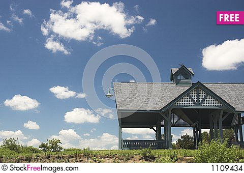 Free Beach Hut In Summer Stock Images - 1109434