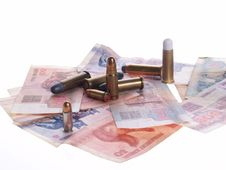 Free Belarus Money And Bullets Stock Photo - 1100040