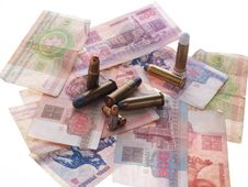 Free Belarus Money And Bullets Royalty Free Stock Photography - 1100057