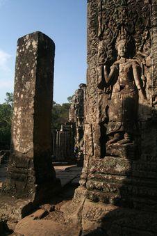 Free Apsara Carving Royalty Free Stock Photo - 1100315