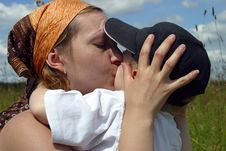 Free Kiss Of Mother Stock Photos - 1100363