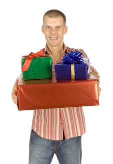 Free Father With Gifts Stock Photography - 1101512