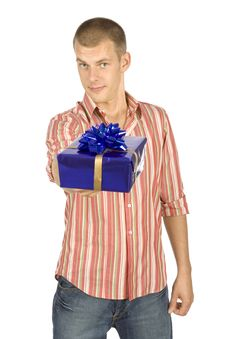 Free Father With Gifts Royalty Free Stock Images - 1101519