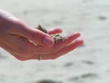 Free Sand In Hand Stock Images - 1102164