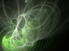 Green Flames Royalty Free Stock Image