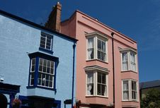 Tenby Pink Blue Royalty Free Stock Photo
