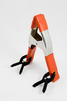 Free Orange Clamp 3 Royalty Free Stock Image - 1103686