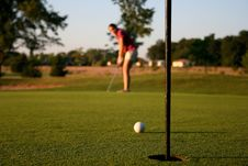 Free Woman On Golf Course Royalty Free Stock Photos - 1105388