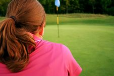 Free Woman On Golf Course Royalty Free Stock Photos - 1105498