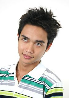 Free Handsome Young Asian Guy 8 Royalty Free Stock Photo - 1105535