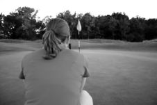 Free Woman On Golf Course Royalty Free Stock Image - 1105536