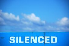 Free Silenced Sign Royalty Free Stock Photos - 1105768